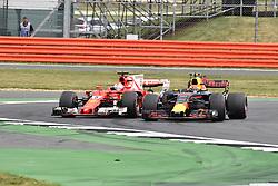 July 16, 2017 - Silverstone, Great Britain - Motorsports: FIA Formula One World Championship 2017, Grand Prix of Great Britain, .#5 Sebastian Vettel (GER, Scuderia Ferrari), #33 Max Verstappen (NLD, Red Bull Racing) (Credit Image: © Hoch Zwei via ZUMA Wire)
