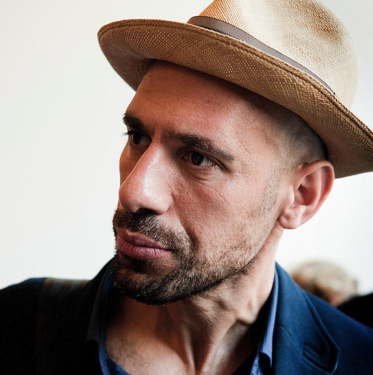 Nederland, Amsterdam, 1 sep 2012.Abdelkader Benali, nederlandse schrijver van marokkaanse afkomst..Foto (c): Michiel Wijnbergh