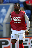 Photo: Pete Lorence.<br />Leicester City v Portsmouth. Pre Season Friendly. 04/08/2007.<br />Frank Songo'o warms up during the match.