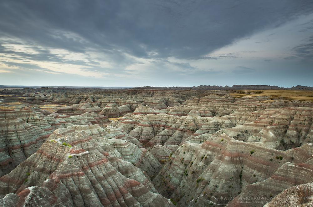 Predawn at Big Badlands Overlook. Badlands National Park South Dakota