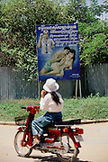 Siem Reap, Cambodia. Aids warning billboard.