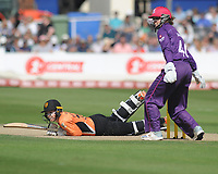 Cricket - 2019 Women's Cricket Kia Super League - Semi-Final: Loughborough Lightning vs. Southern Vipers<br /> <br /> Tammy Beaumont of Southern Vipers slips trying the hit for 4 runs, at County Cricket Ground, Hove.<br /> <br /> COLORSPORT/ANDREW COWIE