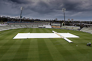 Rain has halted play after tea during the Specsavers County Champ Div 1 match between Warwickshire County Cricket Club and Yorkshire County Cricket Club at Edgbaston, Birmingham, United Kingdom on 24 April 2016. Photo by Simon Davies.