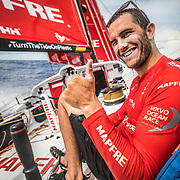 Leg 4, Melbourne to Hong Kong, day 13 on board MAPFRE, Blair Tuke, Everithing perfect, sailing fast again. Photo by Ugo Fonolla/Volvo Ocean Race. 13 January, 2018.