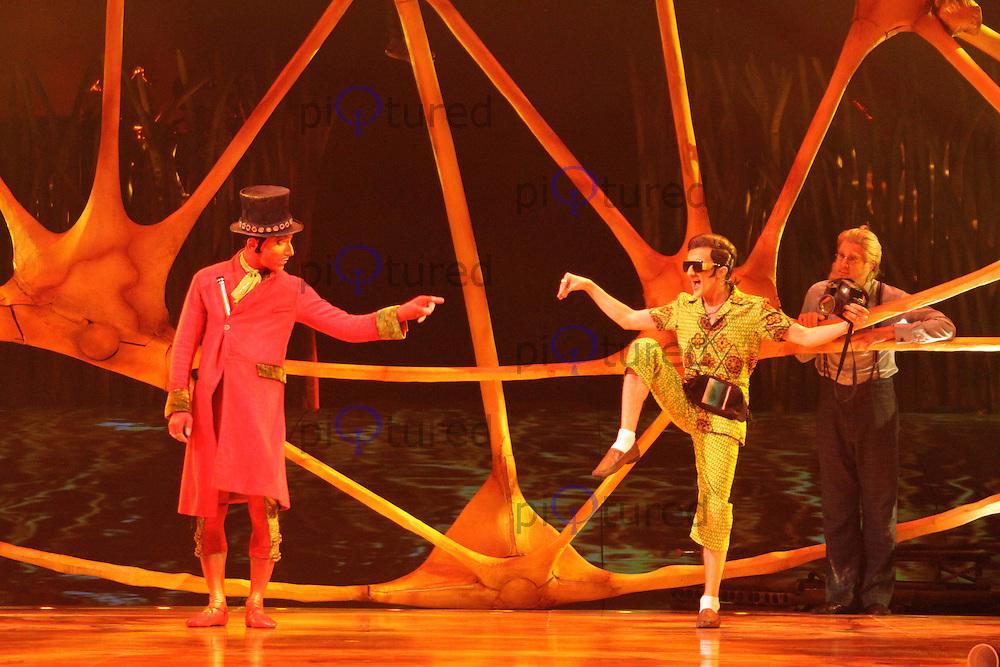 Cirque Du Soleil Totem Clowns Royal Albert Hall, London, UK, 04 January 2011:  Contact: Ian@Piqtured.com +44(0)791 626 2580 (Picture by Richard Goldschmidt)