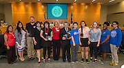 The 2016 VIPS honorees are recognized during the Houston ISD Board of Trustees meeting, May 12, 2016.