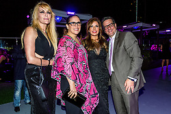 LOS ANGELES, CA - JUN 3: Estela Mora (far left), Angelica Vales, Adriana Gallardo and Otto Padron attend Despegando Show VIP Launch party at Don Chente's Restaurant in downtown Los Angeles. The reality show is presented by Adriana Gallardo, founder and CEO of Adriana's Insurance. The show will coach chosen participants how to be successful entrepreneurs. 2015, June 3. Byline, credit, TV usage, web usage or linkback must read SILVEXPHOTO.COM. Failure to byline correctly will incur double the agreed fee. Tel: +1 714 504 6870.