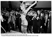 Dancer at midnight at David Koch's New Year's Eve party. Aspen. 1994.<br />© Copyright Photograph by Dafydd Jones<br />66 Stockwell Park Rd. London SW9 0DA<br />Tel 0171 733 0108