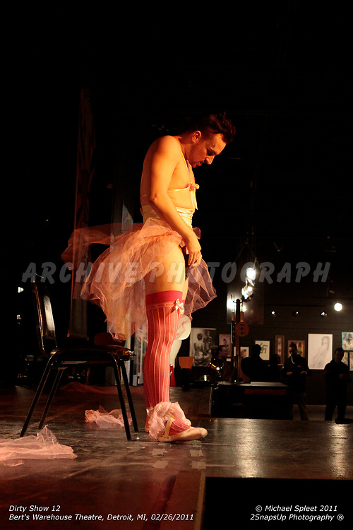 DETROIT, MI, SUNDAY, FEB. 27, 2011: Dirty Show 12, Twinkle Toes McGee at Bert's Warehouse Theatre, Detroit, MI, 02/27/2011.  (Image Credit: Michael Spleet / 2SnapsUp Photography)