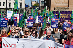 Further Education Lecturers attend a strike rally in Glasgow in protest against the refusal of College Management to honour a deal on pay and conditions that was reached more than a year ago. Wednesday 03 May 2017 (c) Angie Isac | SportPix.org.uk