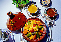 "Couscous, ""Al Fassia"" restaurant in the Palais Jamai (luxury hotel), Fez (Fes), Morocco"