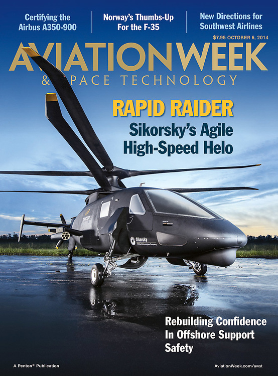 Aviation Week Cover image of Sikorski's Raider Helicopter Photographed by Thomas Winter