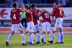 Players of Rudar (Cipot) celebrates at 1st Round of Europe League football match between NK Rudar Velenje (Slovenia) and Trans Narva (Estonia), on July 9 2009, in Velenje, Slovenia. Rudar won 3:1 and qualified to 2nd Round. (Photo by Vid Ponikvar / Sportida)