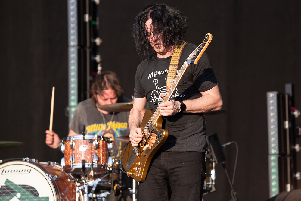 Jack White's The Raconteurs performing at the Austin City Limits Music Festival in Austin, TX on October 4, 2019.