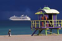 EEUU. Florida. Miami.<br /> Cruise ship at South Beach.<br /> <br /> © JOAN COSTA