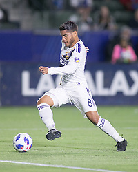 May 25, 2018 - Carson, California, U.S - Jonathan dos Santos #8 of the LA Galaxy with the ball during their MLS game against the San Jose Earthquakes on Friday May 25, 2018 at the StubHub Center in Carson, California. LA Galaxy defeats the Earthquakes, 1-0. (Credit Image: © Prensa Internacional via ZUMA Wire)