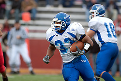 12 November 2005:Sycamore running back Andre Forte.  Illinois State Redbirds topple the Indiana State Sycamore 70-28 at Hancock Stadium in Normal Illinois