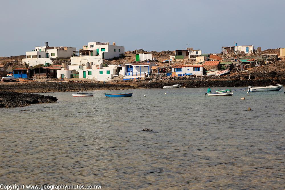 Small fishing village of Majanicho on the north coast, Fuerteventura, Canary Islands, Spain
