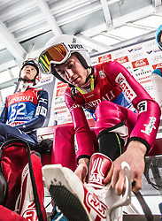 31.12.2014, Olympiaschanze, Garmisch Partenkirchen, GER, FIS Ski Sprung Weltcup, 63. Vierschanzentournee, Training, im Bild Kamil Stoch (POL) // during Trial Jump of 63rd Four Hills <br /> Tournament of FIS Ski Jumping World Cup at the Olympiaschanze, Garmisch Partenkirchen, Germany on 2014/12/31. EXPA Pictures © 2014, PhotoCredit: EXPA/ JFK