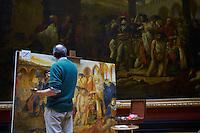 France, Paris, musee du Louvre, copiste // France, Paris, Louvre museum, copyist