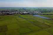 Nederland, Overijssel, Gemeente Zwartewaterland , 03-10-2010; Polder Mastenbroek, nationaal beschermd landschap. Gezien naar het Zwarte Water en Hasselt. De middeleeuwse polder maakt deel uit van het Nationaal Landschap IJsseldelta..Mastenbroek polder, a nationally protected landscape..luchtfoto (toeslag), aerial photo (additional fee required).foto/photo Siebe Swart