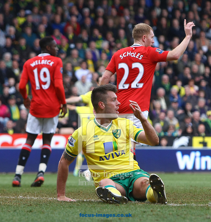 Picture by Paul Chesterton/Focus Images Ltd.  07904 640267.26/02/12.Elliot Ward of Norwich during the Barclays Premier League match at Carrow Road Stadium, Norwich.
