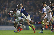 England's Joe Marchant (Harlequins) during the Under 20s Six Nations Championship match between England and France at the American Express Community Stadium, Brighton and Hove, England on 20 March 2015. Photo by Phil Duncan.