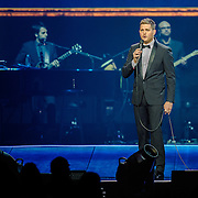 WASHINGTON, DC - September 22nd, 2013 - Michael Bublé performs at the Verizon Center in Washington D.C. Bublé's latest album, To Be Loved, was his fourth consecutive #1 album on the US Billboard charts. (Photo by Kyle Gustafson /  For The Washington Post)