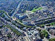 Nederland, Noord-Holland, Amsterdam, 02-09-2020; Amsterdam-Zuid, Museumplein met Rijksmuseum. Leidseplein onder in beeld. <br /> <br /> luchtfoto (toeslag op standard tarieven);<br /> aerial photo (additional fee required);<br /> copyright foto/photo Siebe Swart