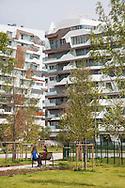 Milano,Amendola fiera: Progetto Citylife, Residenze Hadid.                  Milan, Amendola Fiera: Project Citylife: Hadid Residences.