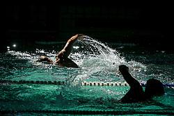 July 4, 2018 - Zaporizhzhia, Ukraine - Swimmers perform during the Mr. Butterfly Swimming Cup of Ukraine tournament, Zaporizhzhia, southeastern Ukraine, July 4, 2018. Ukrinform. (Credit Image: © Dmytro Smolyenko/Ukrinform via ZUMA Wire)