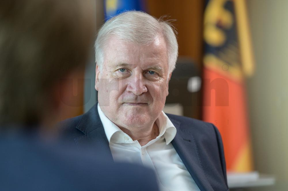 01 JUL 2019, BERLIN/GERMANY:<br /> Horst Seehofer, CSU, Bundesinnenminister, waehrend einem Interview, in seinem Buero, Bundesministerium des Inneren<br /> IMAGE: 20190701-01-027<br /> KEYWORDS: Büro