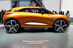 Renault Captur concept car at the Geneva Motor Show 2011 Switzerland