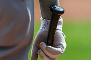 A close up view of the bat of Alexei Ramirez #10 of the Chicago White Sox during a game against the Minnesota Twins on September 16, 2012 at Target Field in Minneapolis, Minnesota.  The White Sox defeated the Twins 9 to 2.  Photo: Ben Krause