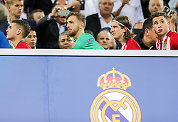 Jan Oblak of Atlético, Filipe Luís of Atlético during medal ceremony after the football match between Real Madrid (ESP) and Atlético de Madrid (ESP) in Final of UEFA Champions League 2016, on May 28, 2016 in San Siro Stadium, Milan, Italy. Photo by Vid Ponikvar / Sportida