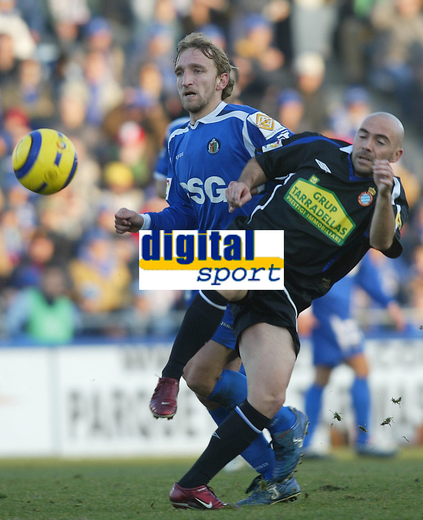 Fotball ,  22. januar 206 , Getafe - Espanyol<br /> De la Pena og Diego Rivas<br /> Norway only