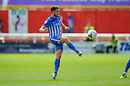 Hartlepool United midfielder Lewis Hawkins (18) during the EFL Sky Bet League 2 match between Exeter City and Hartlepool United at St James' Park, Exeter, England on 13 August 2016. Photo by Graham Hunt.