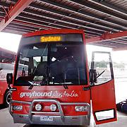 Aboard a greyhoung coach on the east coast road of Australia.
