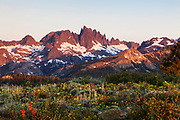 Minaret Vista, Eastern Sierras - Minarets and Morning Sun.
