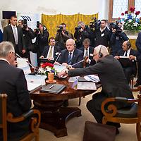 20th anniversary summit of the Visegrad 4 Group in Visegrad, Hungary on October 08, 2011. ATTILA VOLGYI