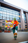 """Citizen Fish says """"End overfishing - 500,000 EU citizens demand it!"""". As EU Fisheries Ministers gather today in Brussels to set fishing levels for the North East Atlantic for 2020, 13-year-old Farrah Delrue and 10-year-old Josephine Seton – representing current and future generations – presented European Commissioner for Environment, Oceans and Fisheries Virginijus Sinkevičius, and Minister Jari Leppa representing the Finnish Presidency of the Council, with more than half a million signatures from EU citizens who are calling for an end to overfishing by EU member states. EU Member states are required to end overfishing by 2020, under the Common Fisheries Policy (CFP).<br /> The Ocean Avengers, a team of superheroes embodying the ocean, climate, law, science and the will of EU citizens, attended the handover, urging Commissioner Sinkevičius to convey the message """"Ending overfishing IS Climate Action"""" to AGRIFISH ministers, and they must obey the law by setting fishing limits within scientific advice, in order to reduce one of the biggest threats to the ocean and its capacity to support life on the planet"""