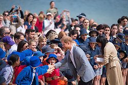 The Duke and Duchess of Sussex meet crowds on South Melbourne Beach during their visit to Melbourne, on the third day of the royal couple's visit to Australia.