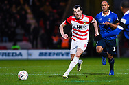 John Marquis of Doncaster Rovers (9) passes the ball during the The FA Cup fourth round match between Doncaster Rovers and Oldham Athletic at the Keepmoat Stadium, Doncaster, England on 26 January 2019.