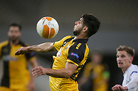 ATHENS, GREECE - OCTOBER 29: Emanuel Insuaof AEK Athens during the UEFA Europa League Group G stage match between AEK Athens and Leicester City at Athens Olympic Stadium on October 29, 2020 in Athens, Greece.(Photo by MB Media)