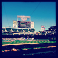 An Instagram of Target Field during a game between the Cleveland Indians and the Minnesota Twins on the last day of the regular season on September 29, 2013 in Minneapolis, Minnesota.