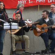 London, UK. 1st May, 2019.  The annual May Day rally in Trafalgar Square on May 1st, 2019 in London.
