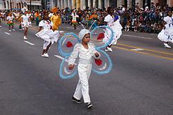 Child in butterfly costume at Carnival; Havana; Cuba,