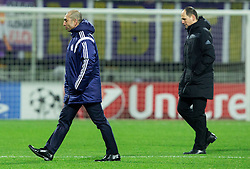 Roberto Di Matteo, head coach of Schalke and Ante Simundza, head coach of Maribor  during football match between NK Maribor, SLO  and FC Schalke 04, GER in Group G of Group Stage of UEFA Champions League 2014/15, on December 9, 2014 in Stadium Ljudski vrt, Maribor, Slovenia. Photo by Vid Ponikvar / Sportida