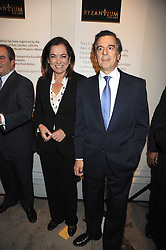 Left to right,  the Greek Foreign Minister DORA BAKOYANNIS and the Greek Minister of Culture MIHALIS LIAPIS at the opening of the Royal Academy of Arts Byzantium 330-1453 exhibition held at the RA, Burlington House, Piccadilly, London on 21st October 2008.