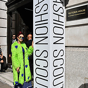 Guests attend Fashion Scout SS20 - Ones To Watch - Day 1 at London Fashion Week - Day 1 on 13 September 2019, London, UK